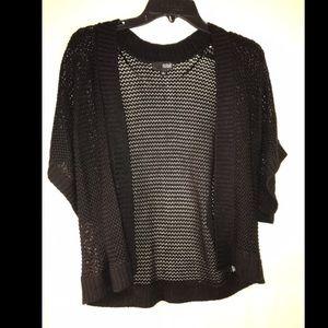 Cute black knit cardigan